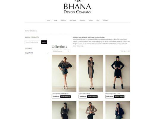 Bhana | Web Design, Ecommerce