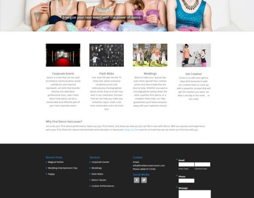 FirstDanceVancouver | Website & Brand