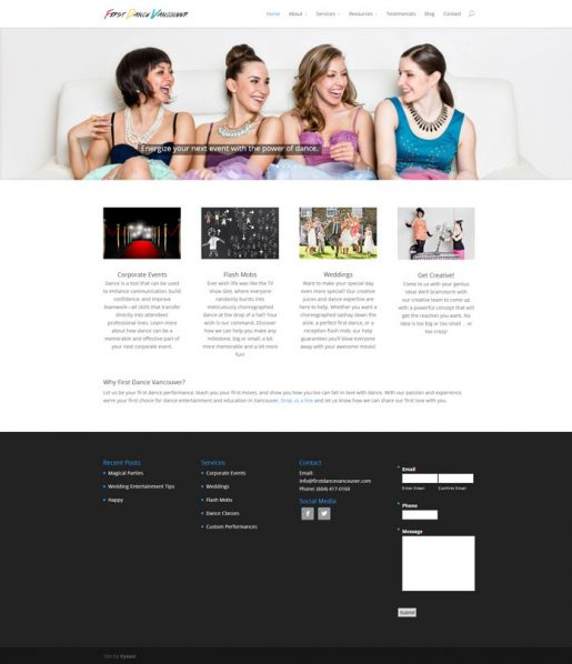 FirstDanceVancouver | Website & Brand