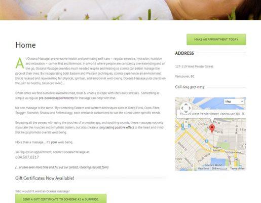 Oceana Massage | Web Design, Solutions Development