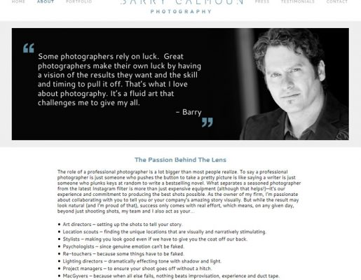 Barry Calhoun Photography | Copywriting