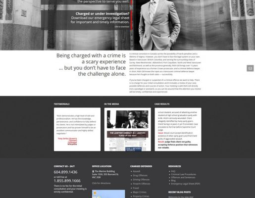 Web Design: Rishi Gill Vancouver Criminal Lawyer
