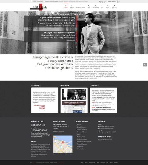 Web Design: Rishi Gill Vancouver Criminal Lawyer