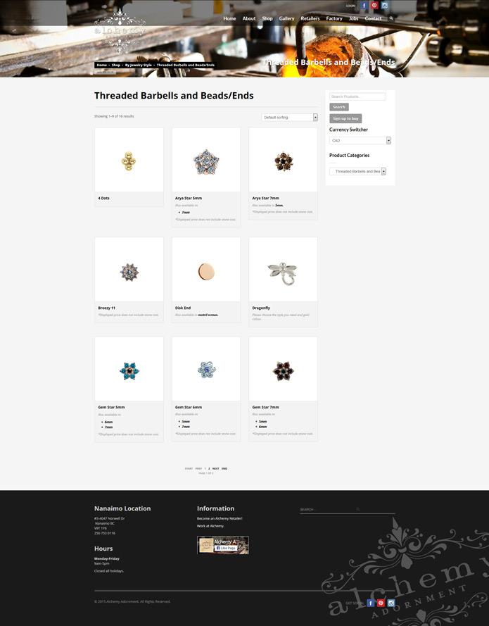 Alchemy Adornment | Web Design,Custom Solutions Development, eCommerce