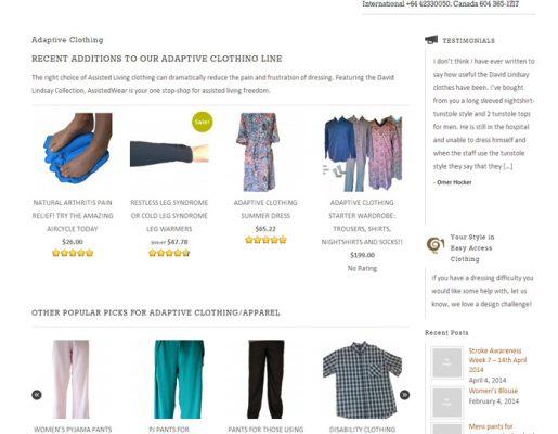 AssistedWear.com   Web Design, Ecommerce, Security, Training, Brand Development