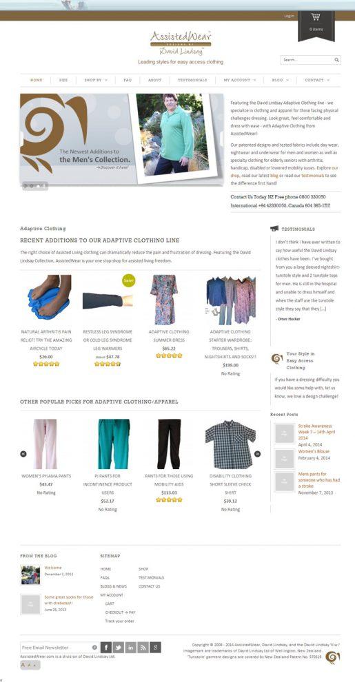 AssistedWear.com | Web Design, Ecommerce, Security, Training, Brand Development