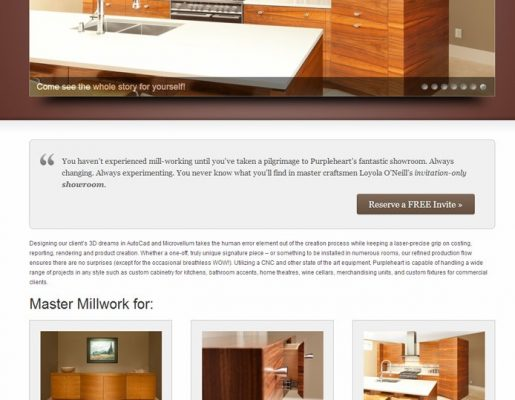 Purple Heart Kitchens & Bath | Web Design, Graphic Design, Creative Direction, Copywriting