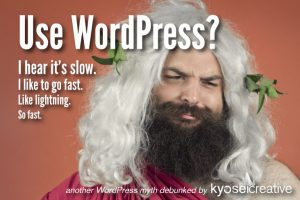This god heard that WordPress was slow, and he wants a fast website. Can you make a fast website with WordPress?
