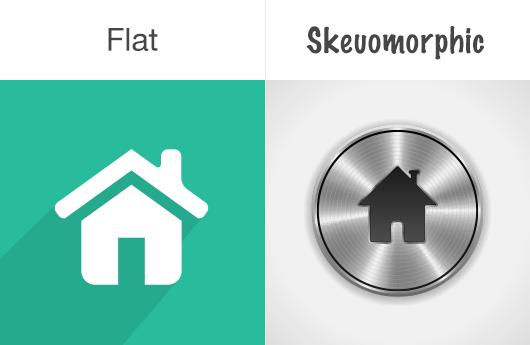flat-vs-skeuomorphic1